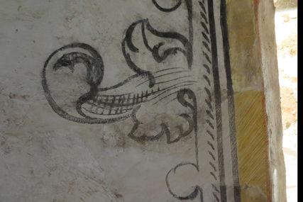 Ein florales Muster an einer Wand von St. Petri - Copyright: Ev.-Luth. Kirchenkreis Lübeck-Lauenburg