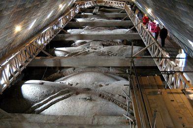 Draufsicht von oben auf das Gewölbe in St. Marien