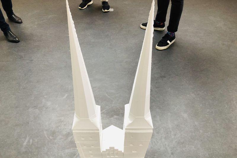 Das 3D-Modell von oben.