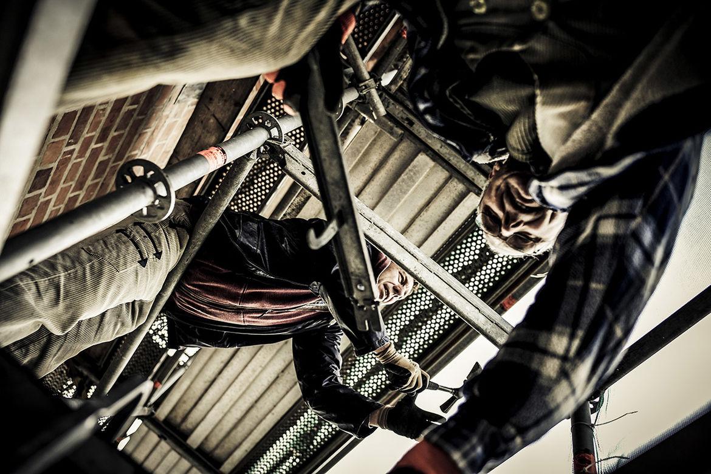 Fachleute der Bauhütte auf dem Baugerüst - Copyright: Thorsten Wulff