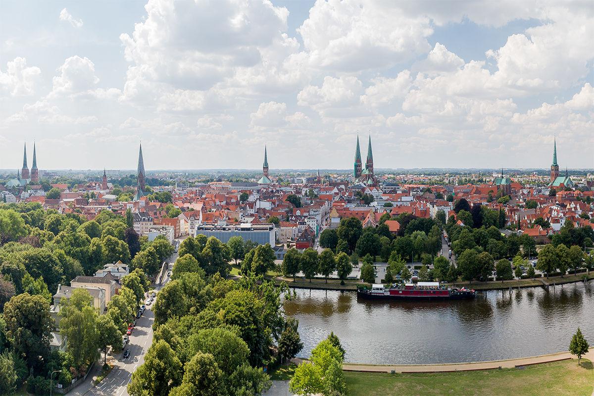 Lübeck von der Falkenstraße aus - Copyright: Oliver Schmidt