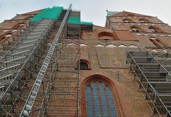 St.-Marien-Kirche eingerüstet - Copyright: Ev.-Luth. Kirchenkreis Lübeck-Lauenburg