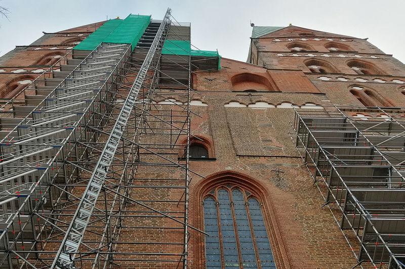 St.-Marien-Kirche eingerüstet